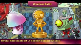 Plants vs Zombies 2 - Hypno Shroom Boost vs Zombot Tomorrow Tron