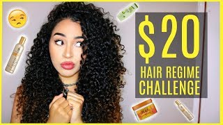 $20 CURLY HAIR ROUTINE CHALLENGE - EPIC COLLAB