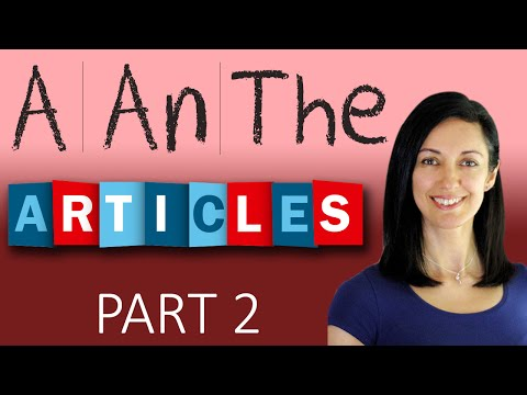 Articles, When To Use the,  The Definite Article THE lesson