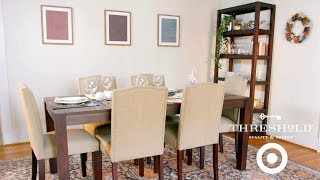 Festive Dining Room Makeover I Target's Threshold Line for Home