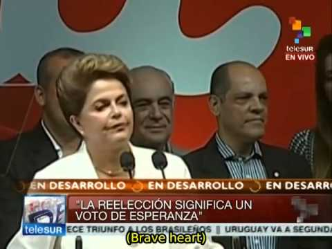 Brazil's Rousseff says her re-election is a 'vote of hope'