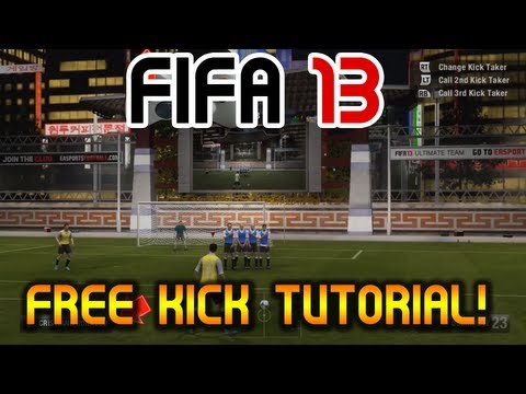 "FIFA 13 - Free Kick Tutorial - ""Score Everytime!"" Any Position - 18-40 Yards! New Tactics"