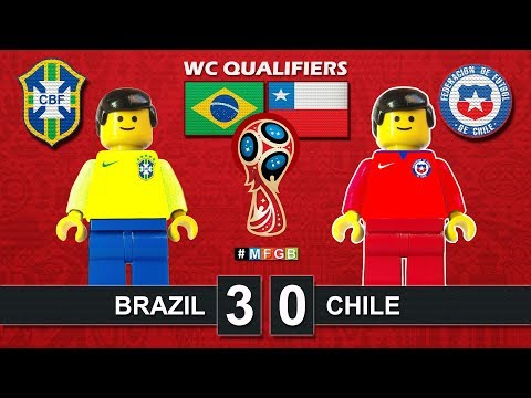 Brazil - Chile 3-0 • World Cup 2018 Qualifiers (10/10/2017) • CBF Lego Highlights Film Brasil