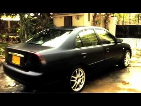 Honda Civic Matte Black Wrap - YouTube