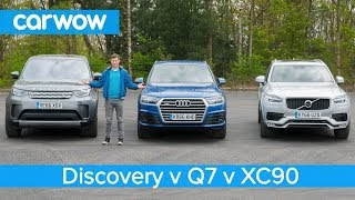 Volvo XC90 vs Audi Q7 vs Land Rover Discovery 2018 - whats the best seven seat SUV? | Head2Head