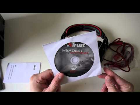 Trust GXT 340 7.1 Surround Gaming Headset Unboxing