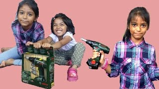 Bosch Screwdriver Drill Toy Unboxing | Play and Review by Kids | Fun Playtime