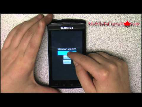 How to enter unlock code on Samsung Galaxy S Captivate From Rogers - www.Mobileincanada.com