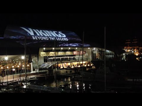 Australian Maritime Museum Viking Rooftop Projection