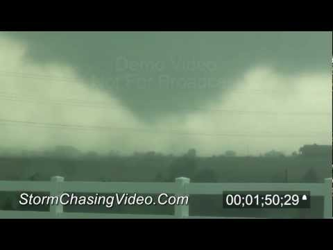 4/9/2012 Woodward, OK Tornado stock footage