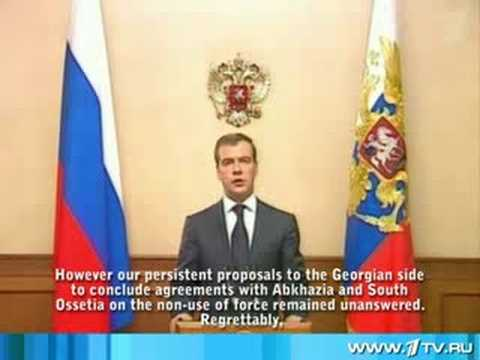 Statement by President of Russia Dmitry Medvedev