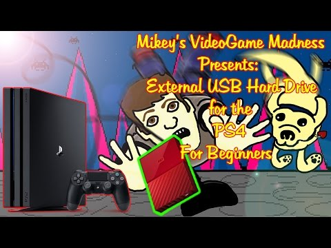 External USB Hard Drive for the PS4 for Beginners Tutorial