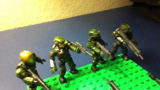 Halo Mega bloks Blue v.s Green