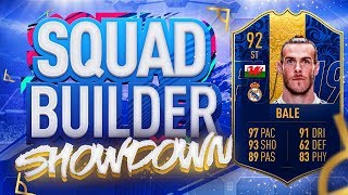 FIFA 19 SQUAD BUILDER SHOWDOWN!!! TEAM OF THE YEAR STRIKER BALE!!! TOTY Gareth Bale At Striker