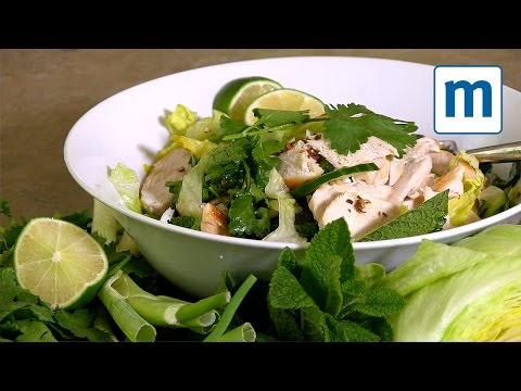 5:2 fast day recipe - fragrant lime and chicken salad