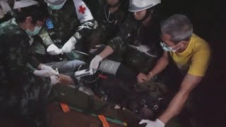 Video shows dangers of Thailand cave rescue