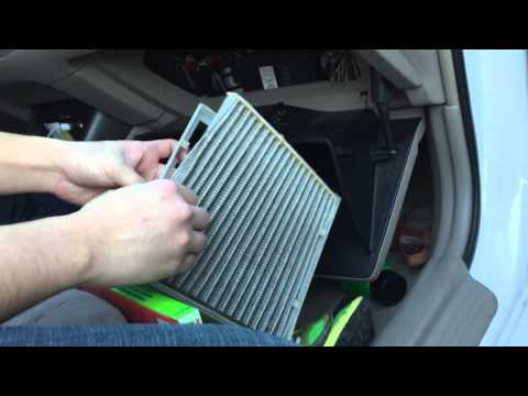 how to change your cabin air filter in a toyota camry 2002