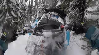 Polaris 850 RMK POV Backcountry Snowmobiling