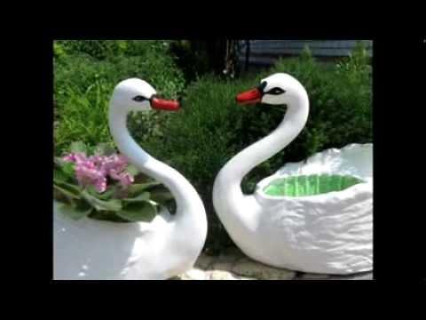Лебедь из пластиковой бутылки своими руками мастер