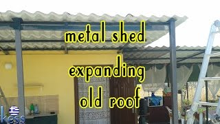How to Build a Steel Structure House Part2 Expanding old roof.  Επέκταση της παλιάς στέγης