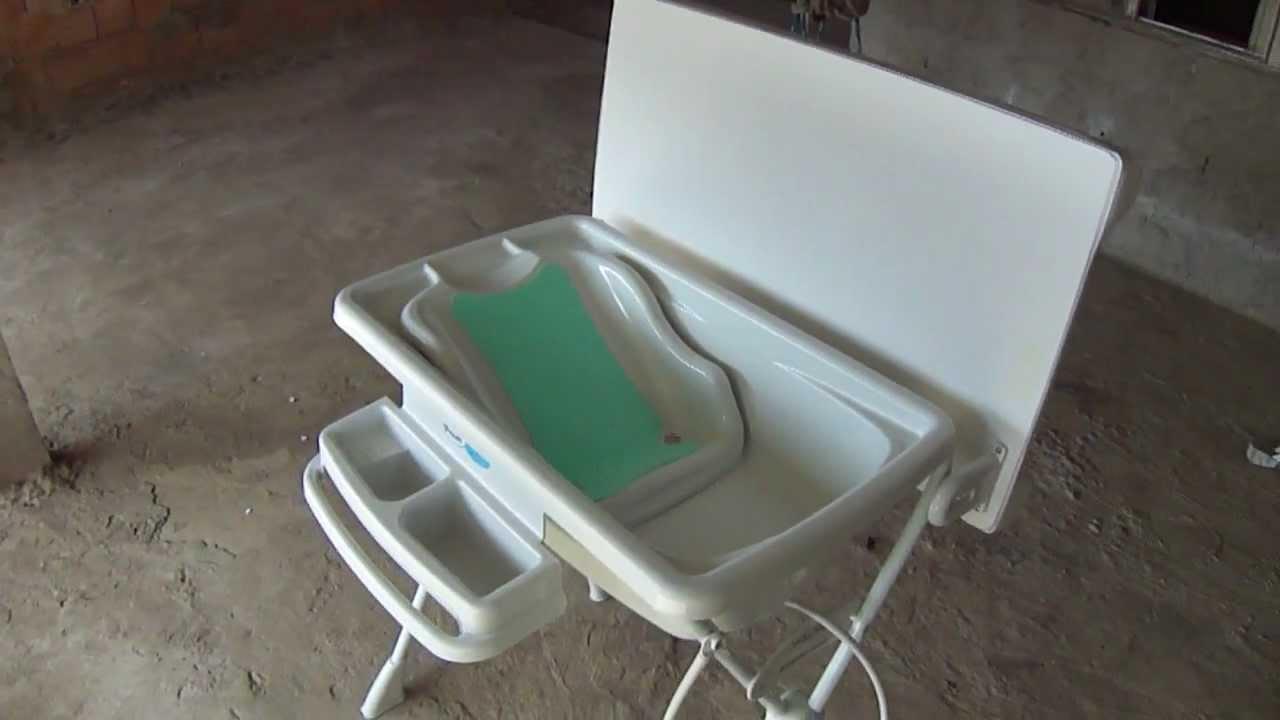 Banheira com trocador Burigotto  YouTube -> Banheiro Com Banheira E Tv