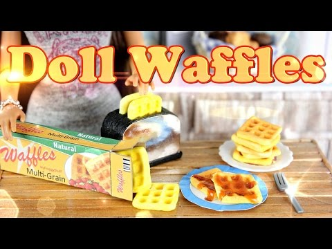 How to Make Doll Food: Waffles Doll Crafts