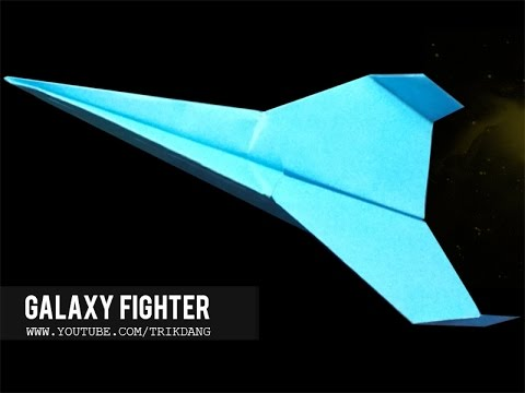 LONG DISTANCE PAPER AIRPLANE - How to make a paper airplane  that FLIES FAR | Galaxy Fighter