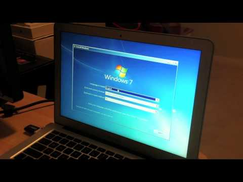 Installing Windows 7 with USB Flash drive on Macbook Air
