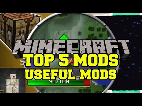 TOP 5 BEST MINECRAFT MODS Useful Mods Mod Showcase