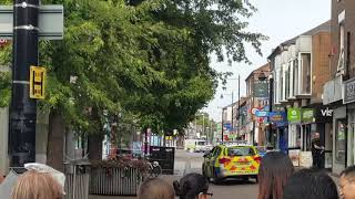 Controlled explosion in beeston in Nottingham