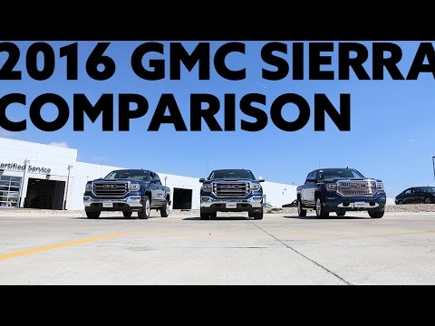 2016 GMC Sierra SLE, SLT, Denali Trim Comparison