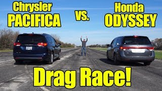 Honda Odyssey vs Chrysler Pacifica DRAG RACE! Compare with a Kunes Country Prize Fight!