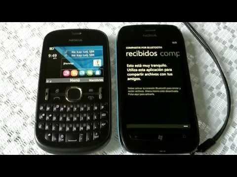 Compartir Por Bluetooth App - Demostracion en un Nokia Lumia 710 con Wp7.8