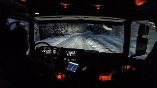 CV Driving Scania S520 - Snowy Nightride to Østby Customs