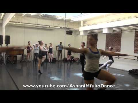 Joffrey Ballet School Jazz Class Across The Floor Exercises - Ashani Mfuko's Class