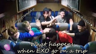 What happens when EXO go on a trip