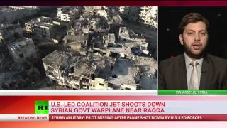 Nudging to War: U.S. Shoots Down Syrian Army Fighter Jet (Video)