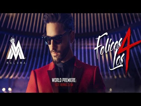 MALUMA FELICES LOS CUATRO 4 LETRA VIDEO LIRYCS