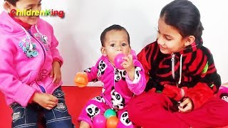 Children Playing With Balloons Special Video for 300+Subscriber | Toddlers and Babies#Children King