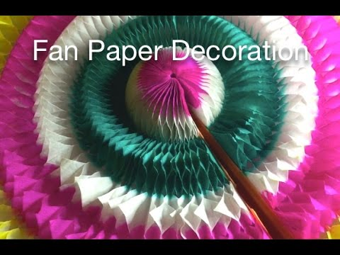 Fan Paper Decoration