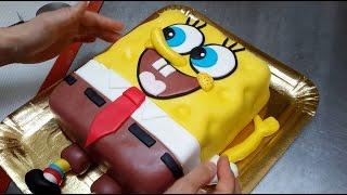 How To Make a SPONGEBOB Cake Torta Bob Esponja by Cakes StepbyStep