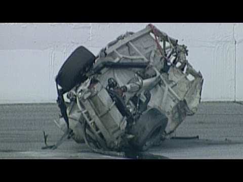 Geoff Bodine NASCAR Craftsman Truck Series Crash.  Offici...