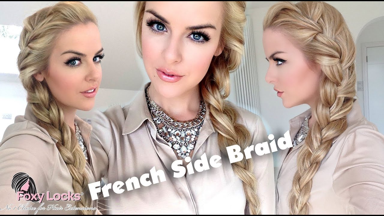 How To Big French Side Braid Youtube