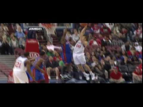 Bill Walker Big Block on Spencer Hawes & Putback Slam vs. Sixers (4/6/11)