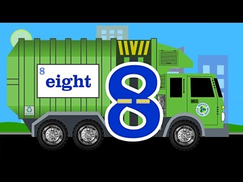 Garbage Truck Number Counting - Garbage Trucks Count 1 to 10 for Kids