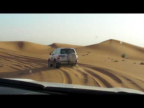 Safari with 4-wheel drive in the desert near Dubai. Part 1. UAE.