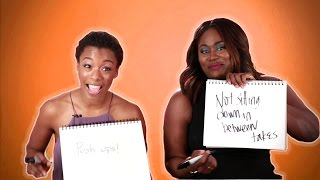 Danielle Brooks and Samira Wiley From OITNB Play The BFF Game