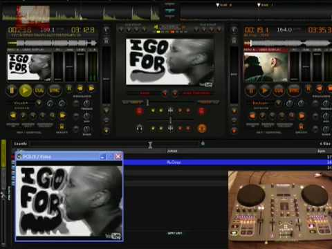 HOW TO USE PCDJ VJ USING XPONENT -VIDEO SCRATCHING