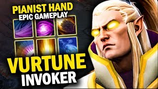 VURTUNE INVOKER VS HUSKAR MID | EPIC COMBO 20 KILLS NO MERCY - DOTA 2 INVOKER
