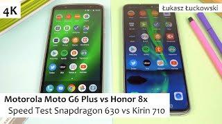 Motorola Moto G6 Plus vs Honor 8x  ❗❗❗ | Speed Test |  Snapdragon 630 vs Kirin 710